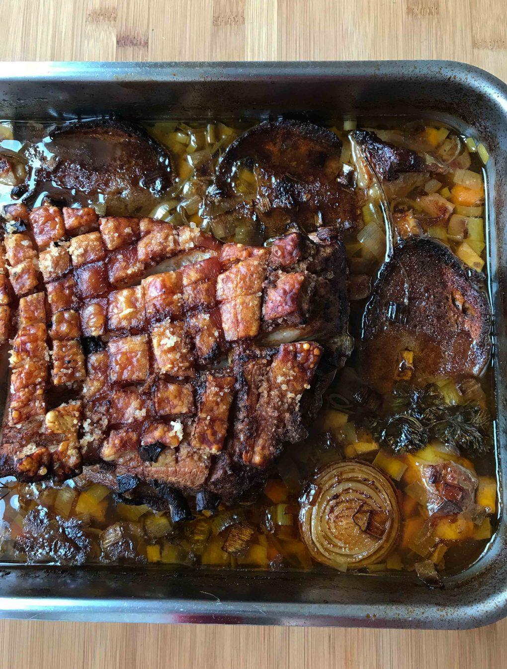 Schweinebauch aus dem Ofen