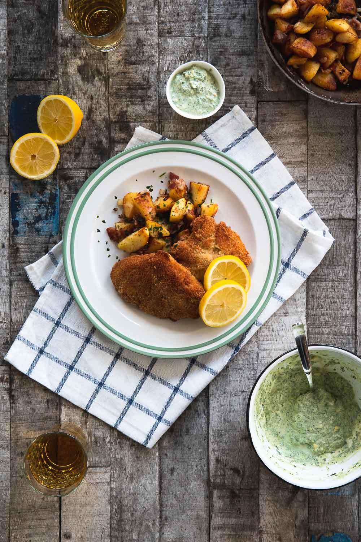 Grüne Soße und Schnitzel Wiener Art