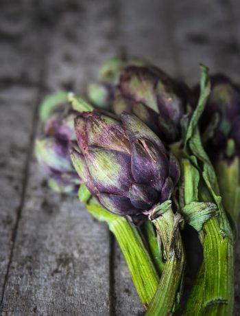 Artischocke roh Ofen offen Foodblog