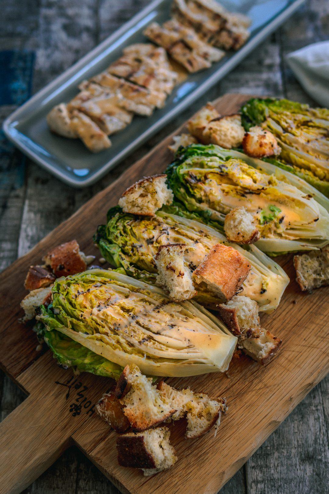 Caesar Salad vom Grill