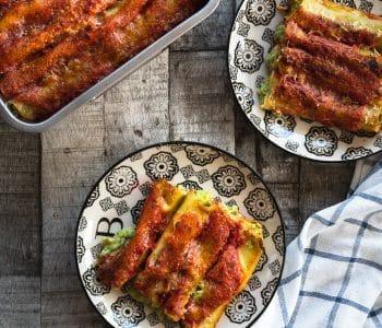 Cannelloni Käse gefüllt Ofen offen