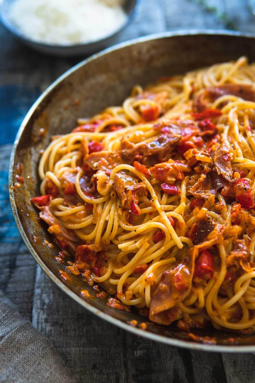Ofen Offen Spaghetti Carbonara Rezept